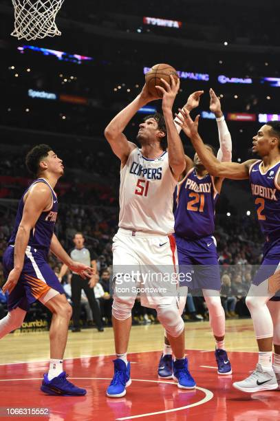 Los Angeles Clippers Center Boban Marjanovic maneuvers towards the basket during an NBA game between the Phoenix Suns and the Los Angeles Clippers on...
