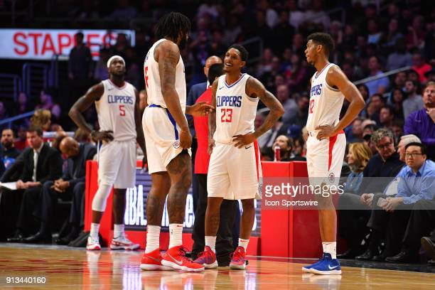 Los Angeles Clippers Center Montrezl Harrell Los Angeles Clippers Center DeAndre Jordan Los Angeles Clippers Guard Lou Williams and Los Angeles...