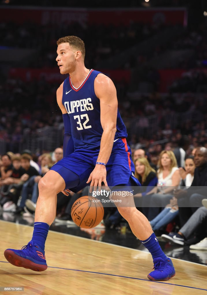 d17f09ebfc0 Los Angeles Clippers Forward Blake Griffin dribbles the ball between ...