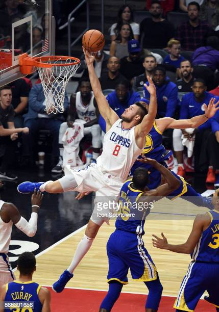 Los Angeles Clippers Forward Danilo Gallinari drives into the lane for an off balance shot during an NBA game between the Golden State Warriors and...