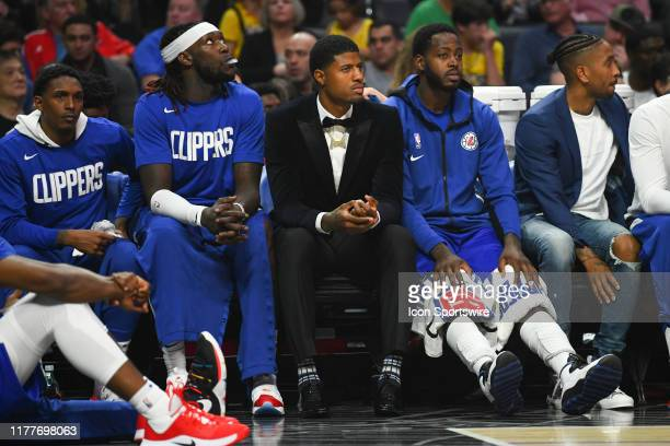 Los Angeles Clippers Guard Lou Williams Los Angeles Clippers Center Montrezl Harrell Los Angeles Clippers Guard Paul George and Los Angeles Clippers...
