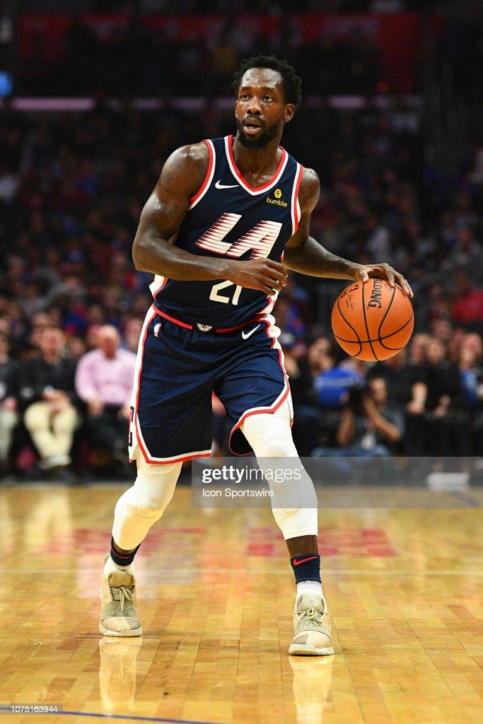 e1568e6f2e9a Los Angeles Clippers Guard Patrick Beverley looks to make a pass ...