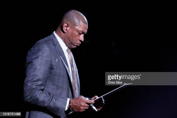 Los Angeles Clippers head coach Doc Rivers is seen during the Los Angeles Clippers 11486 victory over the Orlando Magic at the Staples Center on...