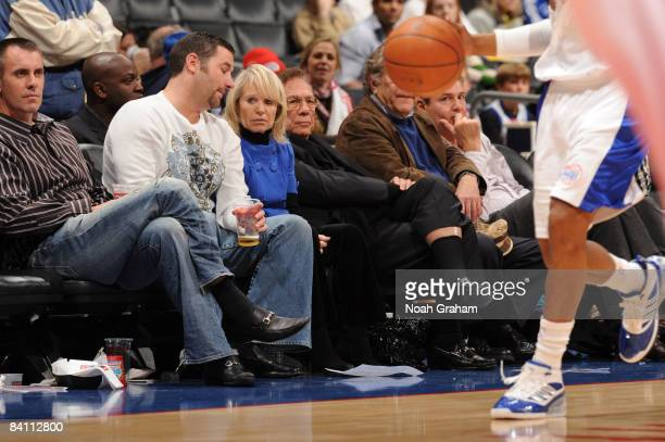 Los Angeles Clippers' owner Donald Sterling watches the game from courtside against the Toronto Raptors at Staples Center on December 22 2008 in Los...