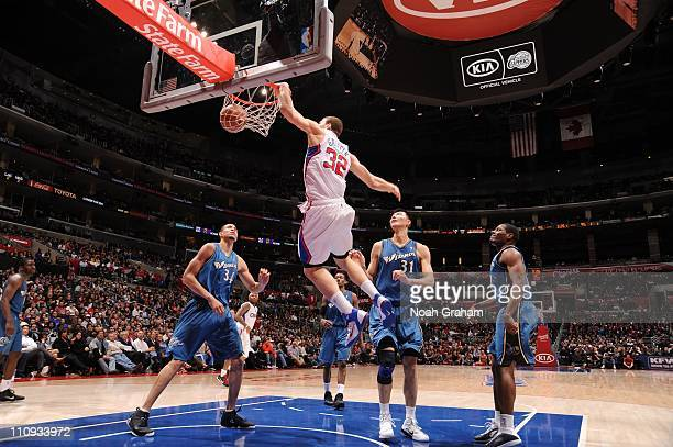 Los Angeles Clippers power forward Blake Griffin goes to the basket during the game against the Washington Wizards at Staples Center on March 23,...