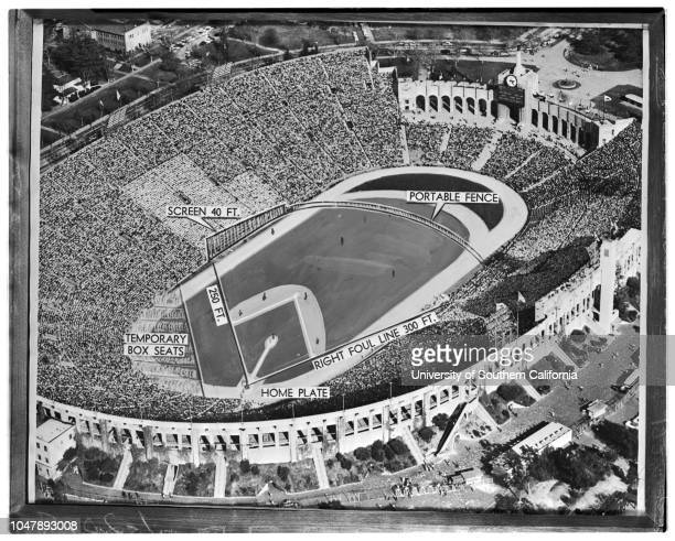 Los Angeles Coliseum 20 January 1958 Copy of proposed ball park at Coliseum