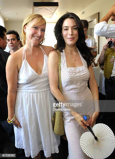 Los Angeles Confidential Magazine Executive Editor Lara Morgenson and actress Jaime Murray attend Los Angeles Confidential Magazine's Cover Party...