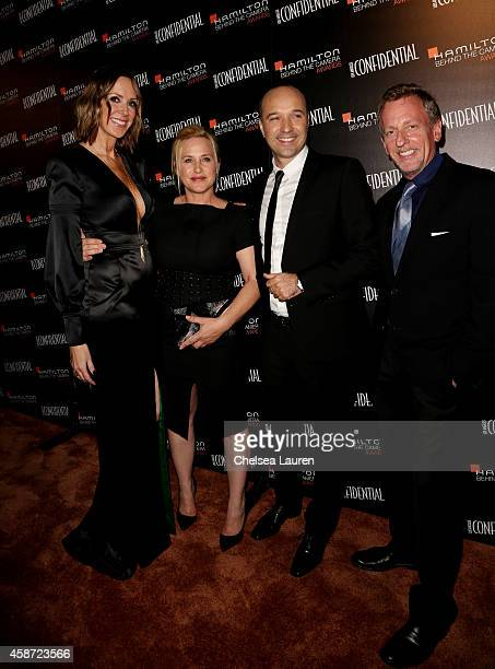 Los Angeles Confidential Publisher Alison Miller actress Patricia Arquette Hamilton CEO Sylvain Dolla and Los Angeles Confidential EditorinChief...