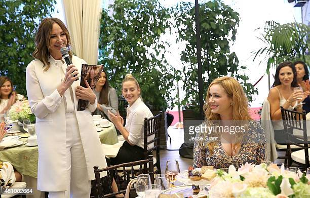 Los Angeles Confidential Publisher Alison Miller and actress Christina Hendricks attend the Los Angeles Confidential Women of Influence Celebration...