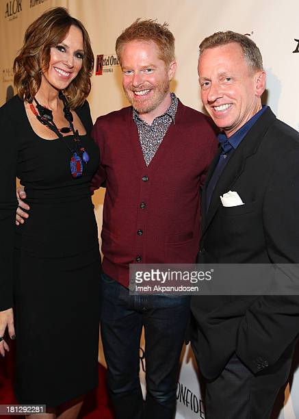 Los Angeles Confidential's Publisher Alison Miller actor Jesse Tyler Ferguson and EditorinChief Spencer Beck attend the Los Angeles Confidential...