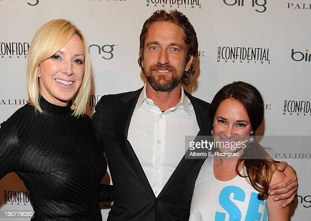Los Angeles Confidentioal Magazine's Group Publisher Alison Miller, actor Gerard Buther and Los Angeles Confidential Magazine's Editor-in-Chief Sari...