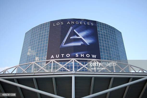 Los Angeles Convention Center signage advertises the 2014 Los Angeles Auto Show on November 19, 2014 in Los Angeles, California. This year's show is...