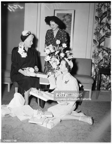 Los Angeles Country Clubsociety April 18 1951 Mrs William BannermanMrs Edward Lester SmithMrs Anna E McMasterMore descriptive information with...
