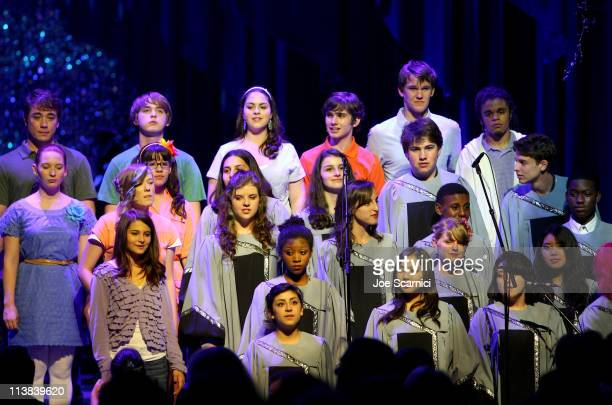Los Angeles County High School for the Arts musical group performs onstage during Dream For Kids Grand Opening Gala supported by AEG and presented by...
