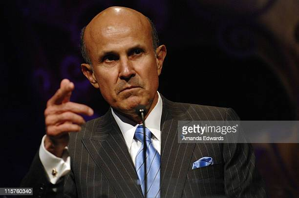 "Los Angeles County Sheriff Lee Baca gives a speech at the Sheriff Baca Foundation's 23rd Annual ""Salute to Youth"" Venetian Masquerade Dinner honoring..."
