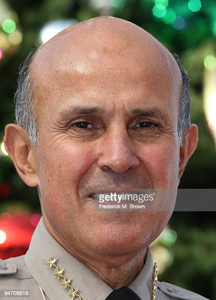 "Los Angeles County Sheriff Lee Baca launches the ""13 Days of Grinchmas"" at Universal Studios on December 17, 2009 in Universal City, California."