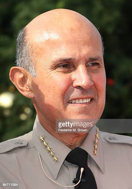 """Los Angeles County Sheriff Lee Baca launches the """"13 Days of Grinchmas"""" at Universal Studios on December 17, 2009 in Universal City, California."""