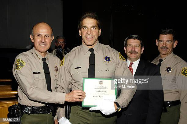 Los Angeles County Sheriff Lee Baca presided over the swearing in ceremonies for Actor and World Champion body builder Lou Ferrigno as he graduated...