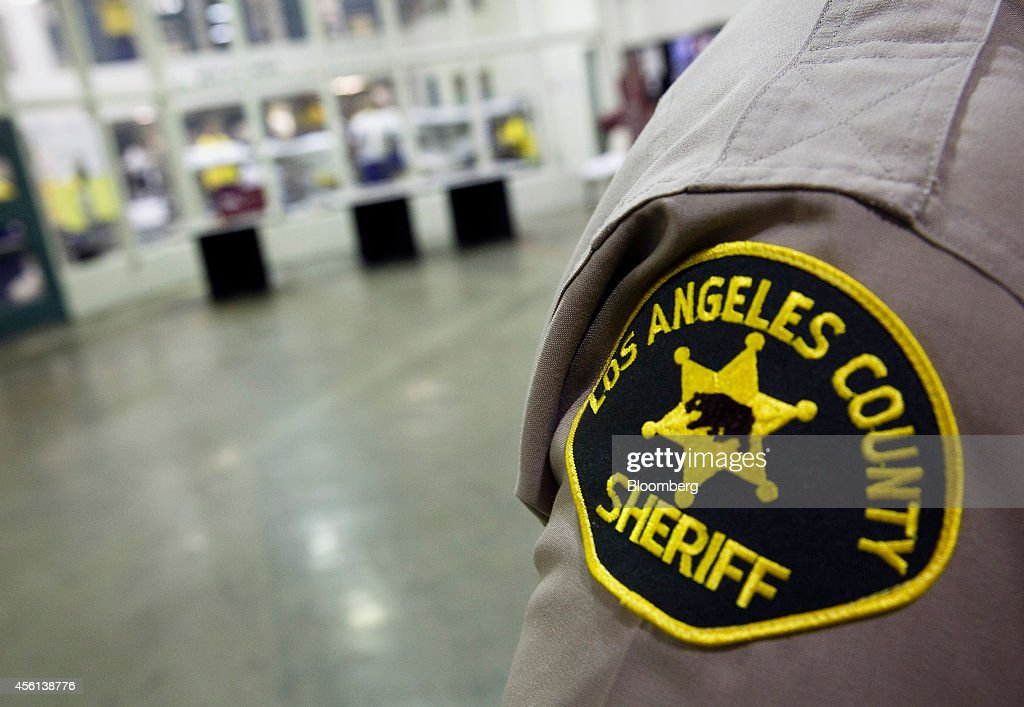 A Los Angeles County Sheriffs Department patch is seen on