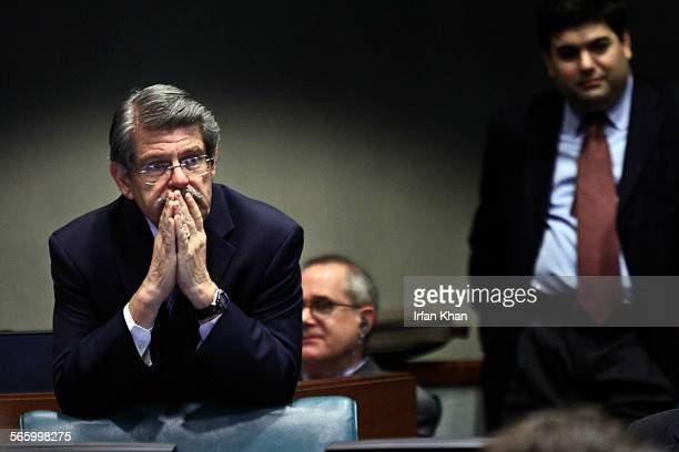 Los Angeles County Supervisor Zev Yaroslavsky watches as things unfold during a debate at MTA board meeting to vote whether to add or not a Leimert...