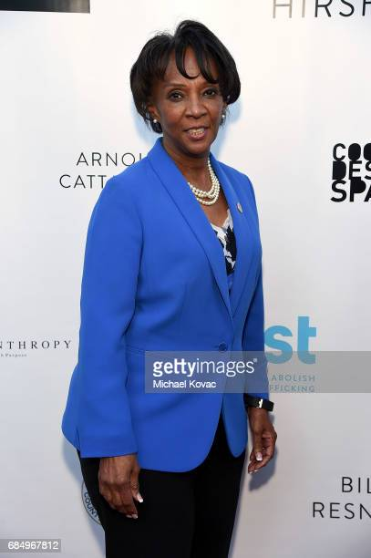 Los Angeles District Attorney Jackie Lacey attends the 19th Annual Slavery To Freedom Gala at Skirball Cultural Center on May 18 2017 in Los Angeles...