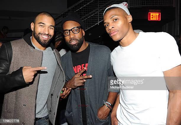 Los Angeles Dodger Matt Kemp Cleveland Cavalier's Baron Davis and Oklahmona City Thunder's Russell Westrbook attend Snoop Dogg's 40th Birthday Party...