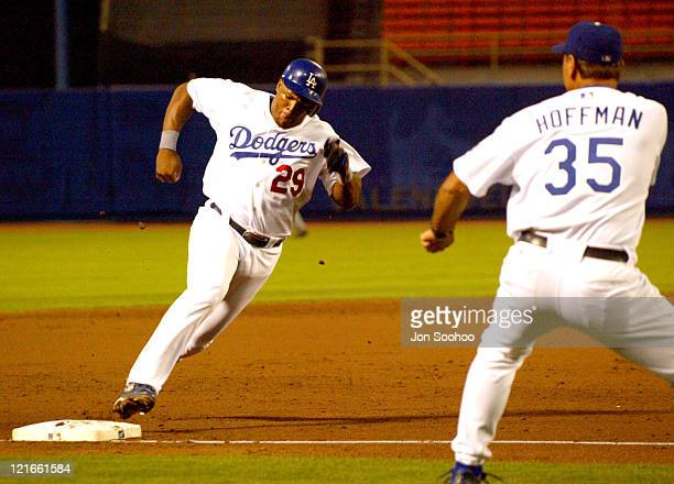 Los Angeles Dodgers Adrian Beltre scores from third base against the Pittsburgh Pirates at Dodger Stadium in Los Angeles, California on August 3,...
