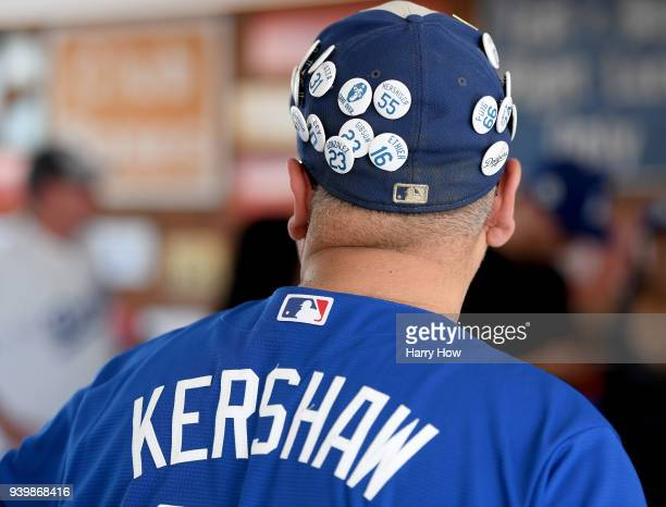 Los Angeles Dodgers fans before the game against the San Francisco Giants during the 2018 Major League Baseball opening day at Dodger Stadium on...