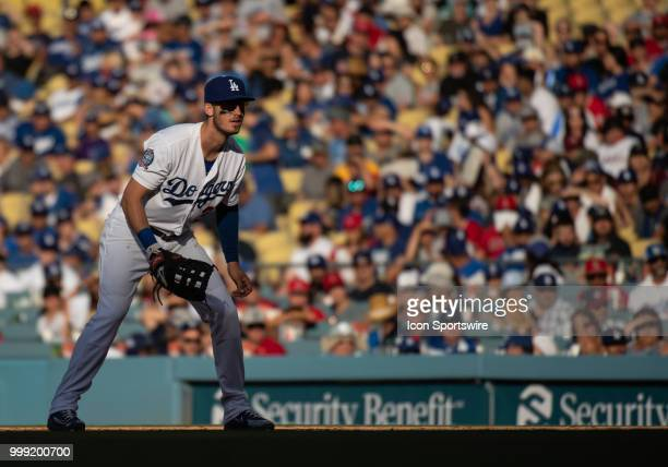 Los Angeles Dodgers first baseman Cody Bellinger during a MLB game between the Los Angeles Angels of Anaheim and the Los Angeles Dodgers on July 14...