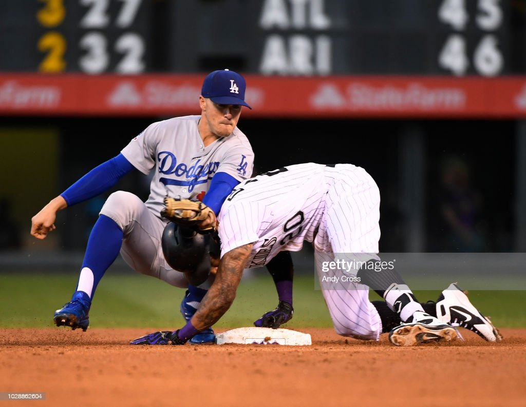 Colorado Rockies vs Los Angeles Dodgers : News Photo
