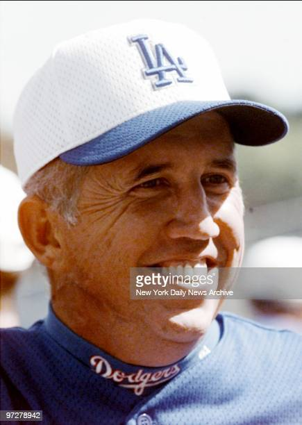 Los Angeles Dodgers' manager Davey Johnson at spring training game between the New York Mets and the Dodgers