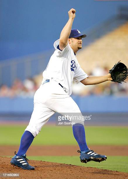 Los Angeles Dodgers newest starting pitcher Brad Penny against Pittsburgh Pirates at Dodger Stadium in Los Angeles, California on August 3, 2004. The...