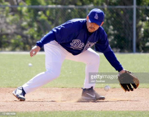 Los Angeles Dodgers Norihiro Nakamura of Japan during workout at Dodgertown in Vero Beach Florida on Wednesday March 2 2005