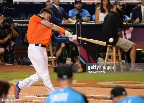 Los Angeles Dodgers outfielder Cody Bellinger during the Home Run Derby on July 09 2017 at Marlins Park in Miami FL