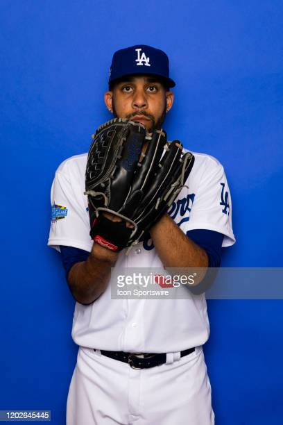 Los Angeles Dodgers pitcher David Price poses for a portrait during photo day on Thursday Feb 20 at Camelback Ranch in Glendale Ariz