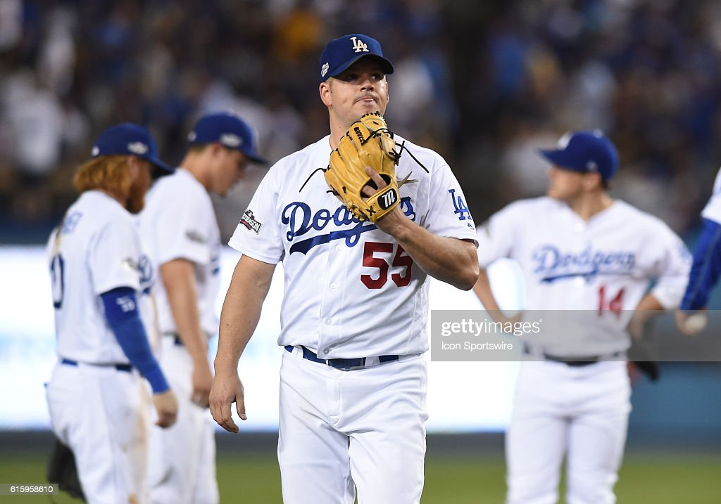 MLB: OCT 20 NLCS Game 5 - Cubs at Dodgers : Nachrichtenfoto