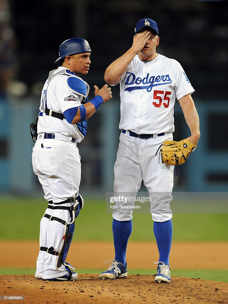 MLB: OCT 20 NLCS Game 5 - Cubs at Dodgers : News Photo