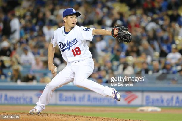 Los Angeles Dodgers Pitcher Kenta Maeda makes the start for the Dodgers in the game between the Cincinnati Reds and the Los Angeles Dodgers on May 11...