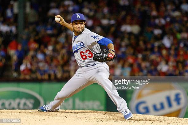 Los Angeles Dodgers Pitcher Yimi Garcia [10635] during the MLB game between the Los Angeles Dodgers and Texas Rangers played at Globe Life Park in...