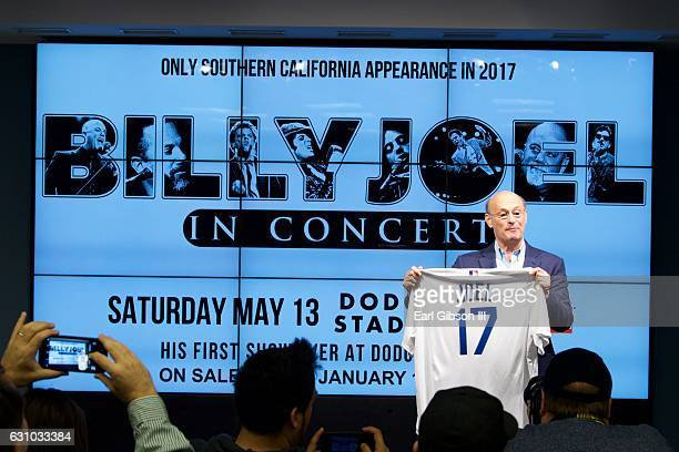 Los Angeles Dodgers President/CEO Stan Kasten and Live Nation announce Billy Joel's first show ever to be held at Dodger Stadium during a press event...