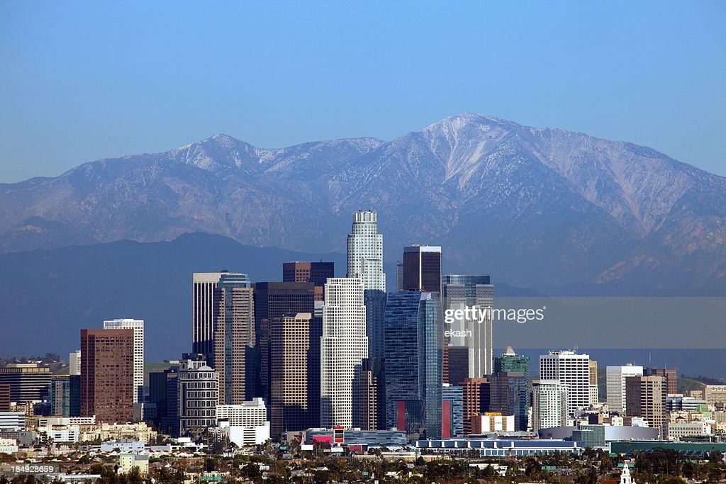 Los Angeles Downtown Stock Photo Getty Images