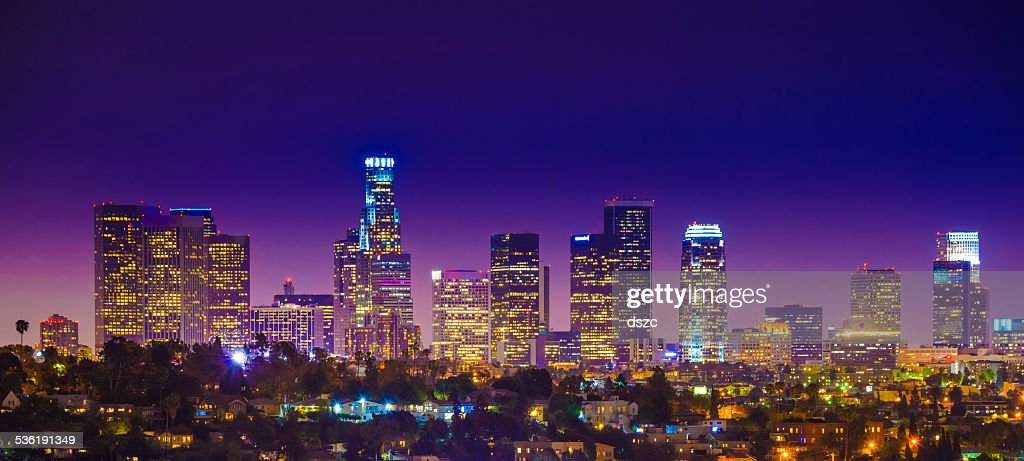 Los Angeles Downtown Skyscrapers Skyline Citycape Panorama