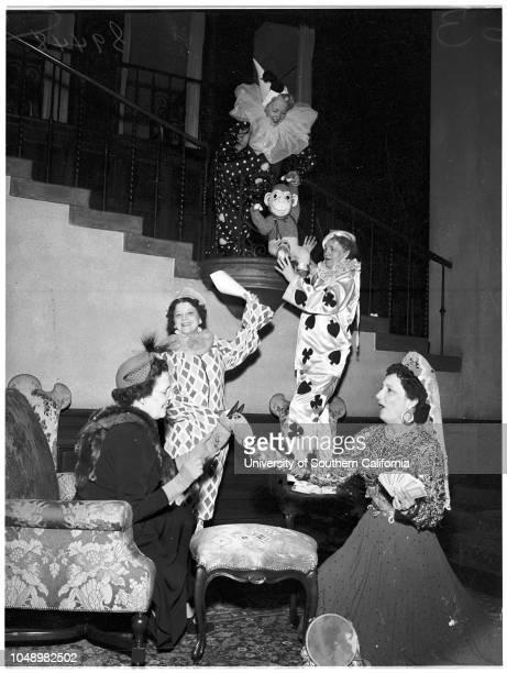 Los Angeles Ebell Club carnival 07 November 1952 Mrs Harold V MatherMrs Hugh W PendergastMrs F Joseph FullerMrs Harvey BriggsMrs F Norwood Yale...