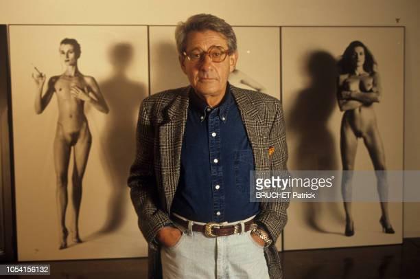 """Los Angeles, Etats-Unis, juin 1992 --- Rendez-vous avec Helmut NEWTON à l'hôtel """"Château Marmont"""" de Los Angeles. Ici, le photographe australien..."""