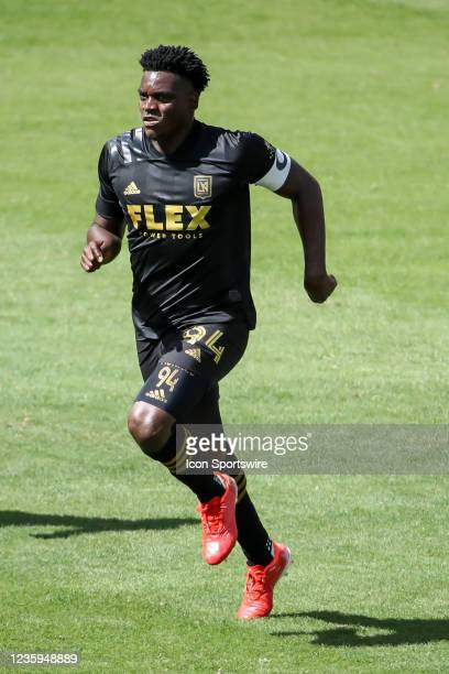 Los Angeles FC defender Jesus Murillo during the Los Angeles FC vs San Jose Earthquakes MLS game on October 16 at BANC of California Stadium in Los...