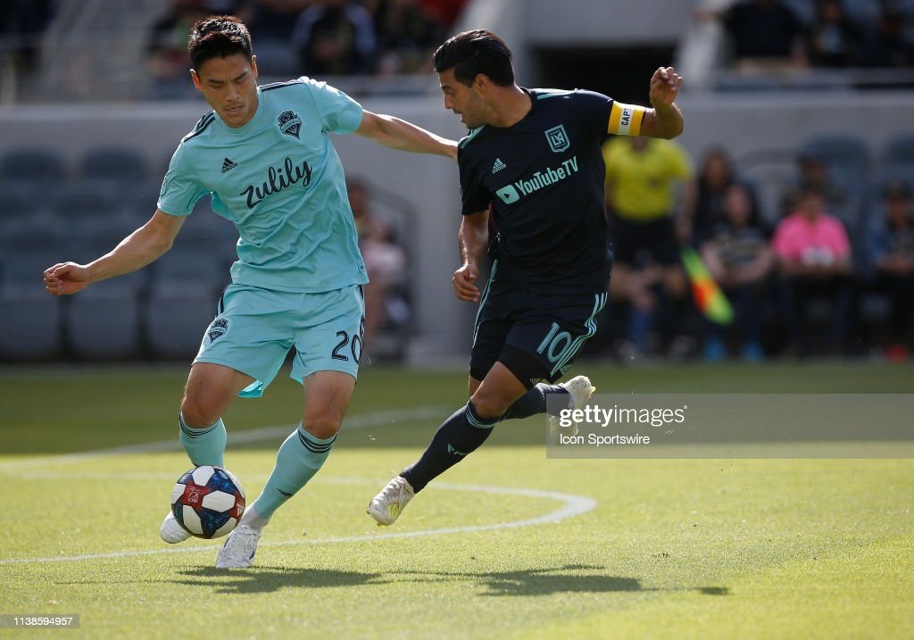 SOCCER: APR 21 MLS - Seattle Sounders FC at LAFC : News Photo