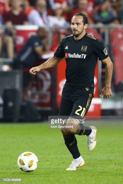 Los Angeles FC forward Marco Urena moves the ball against Toronto FC on September 01 at BMO Field in Toronto, ON, Canada.