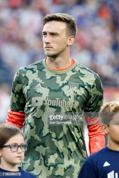 Los Angeles FC goalkeeper Tyler Miller before a match between the New England Revolution and Los Angeles FC on August 3 at Gillette Stadium in...