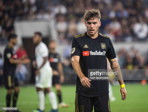 Los Angeles FC midfielder Andre Horta during a MLS match between the Los Angeles FC and the Los Angeles Galaxy July 26 2018 at Banc of California...