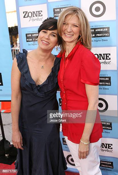Los Angeles Film Festival Director Rebecca Yeldham and Film Independent Executive Director Dawn Hudson arrive at the 2009 Los Angeles Film Festival's...